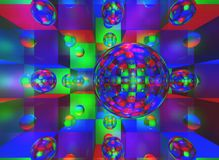 Abstract Background with Balls Royalty Free Stock Images