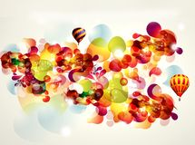 Abstract background with baloons. Abstract background with bright splashes and baloons Royalty Free Stock Photos