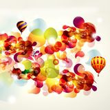 Abstract background with baloons. Abstract background with bright splashes and baloons Royalty Free Stock Image