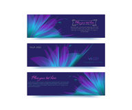 Abstract background for banner advertising. Banner Abstract background form a flower lighting effect Royalty Free Stock Photo