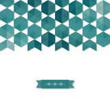 Abstract background banner of hexagon Stock Photography