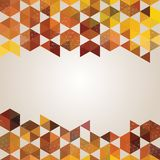 Abstract background banner of hexagon Royalty Free Stock Images
