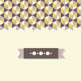 Abstract background banner of hexagon. Use as a backdrop, postcard, banner. Clear geometric shapes with shadows Royalty Free Stock Images