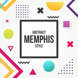 Abstract Background Memphis Style. Abstract Background Banner Memphis Style stock illustration