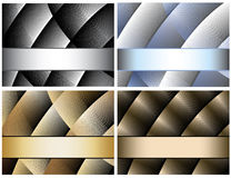 Abstract background and banner set Royalty Free Stock Images