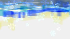 Abstract banner with snowflakes. Abstract background banner with snowflakes, bitmap, computer generated Stock Image