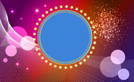 Abstract  background  with banner and stars. Royalty Free Stock Photo