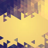Abstract background banner of triangles Stock Photography
