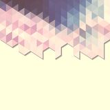 Abstract background banner of triangles. Abstract geometric pattern of triangles. Geometric shapes Stock Photography