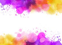 Abstract background with watercolor splashes. Abstract background banner with watercolor splashes frame. Bright colored. Template painted background for your Royalty Free Stock Photography
