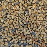 Abstract, background, bark, brown, chopped, circle, construction, cut, detail, energy, environment, fire, fireplace, forest, fores. Woodpile,an armful of Royalty Free Stock Photography