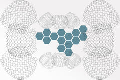 Abstract background base on wireframe shape royalty free stock photo