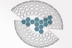 Abstract background base on wireframe shape stock image