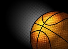 Abstract background,basketball theme with copy space Royalty Free Stock Image