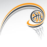 Abstract background on the basketball theme Stock Images