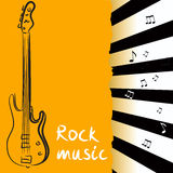 Abstract background with bass guitar. Illustration Stock Photo