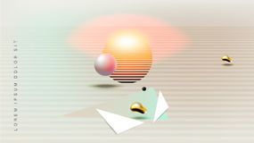 Abstract background with bauhaus, futuristic and hipster style Royalty Free Stock Photo