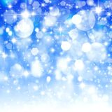 Blue blurred bokeh background, gradient, white, stars, glitter,. Abstract  background  beautiful  blue  blurred background  bokeh  bright  holiday  Christmas Royalty Free Stock Images