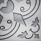 Abstract Background. And beautiful carving texture stock illustration