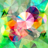Abstract background. Beautiful colorful abstract background with triangles royalty free illustration