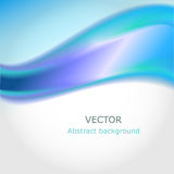 Abstract Background 5. Beautiful elegant blue wave. Abstract vector illustration Stock Photo