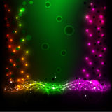 Abstract Background 5. Beautiful abstract background the flowing neon light Stock Photography