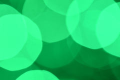 Abstract background of beautiful green bokeh Stock Images