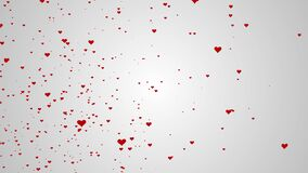 Abstract background with beautiful heart smooth animation. With a central place for your logotext stock video footage