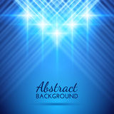 Abstract Background with Beautiful Rays of Light. Dark Blue Vector Illustration stock illustration