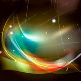 Abstract background, Beautiful rays of light. Digital space royalty free illustration