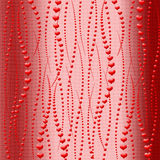 Abstract background. Beautiful red hearts. Royalty Free Stock Images