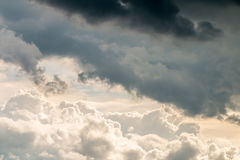 Abstract background, beautiful sky with dark cumulonimbus clouds Royalty Free Stock Photo