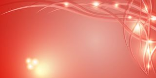 Abstract background with beautiful smooth lines and lights. Lights and iridescent lines on a red background for the decoration of beautiful frames and banners royalty free illustration