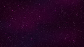 Abstract background. The beautiful starry sky is purple. The stars glow in complete darkness. Fantastic galaxy. Open space. Vector. Illustration. EPS 10 Stock Photo