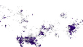 Abstract background of beautiful violet Ink clouds or smoke move in slow motion VFX with luma matte that very easy to stock video