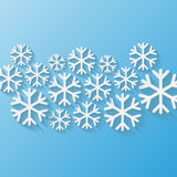 abstract background beautifully design snowflakes winter your Στοκ Εικόνα