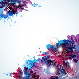 Abstract background with beauty floral elements Royalty Free Stock Photography