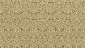 Abstract background in beige tones. Abstract background with ornament from repeated patterns with effect of stamping in beige tones Stock Photography