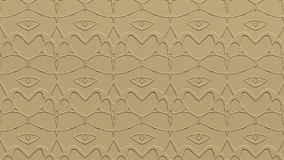 Abstract background in beige tones with scribbles. Abstract background with ornament from repeated patterns with effect of stamping in beige tones Stock Images