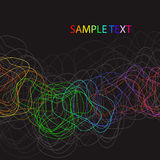 Abstract background with bent lines. Abstract background with multicolored bent lines vector illustration