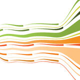 Abstract background with bent lines. Abstract background with the green and orange bent lines. Vector illustration Stock Image