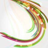 Abstract background with bent lines. Vector illustration Stock Photos