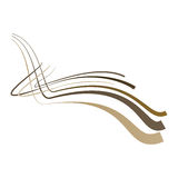 Abstract background with the bent lines. Vector illustration Royalty Free Stock Photos