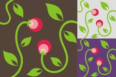 Abstract background with berries Stock Images