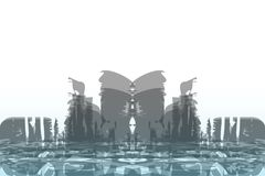 Abstract background of a big city. Grunge style. Vector grunge illustration of an futuristic big city background. Abstract cityscape panorama. Trendy symbol stock illustration