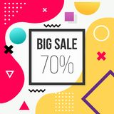 Abstract Background Big Sale Memphis Style. Abstract Background Sale Memphis Style vector illustration