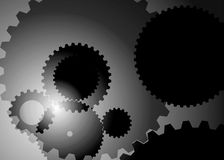 Abstract background with big and small gears gray color. Vector picture of abstract background with big and small gears gray color royalty free illustration