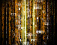 abstract background with binary code Royalty Free Stock Image