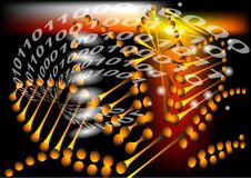 Abstract background with binary code Royalty Free Stock Photography
