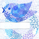 abstract background with bird Royalty Free Stock Image